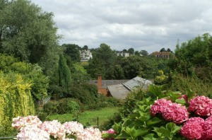 View from Devonshire House over Streatham Farm, Streatham Campus, University of Exeter