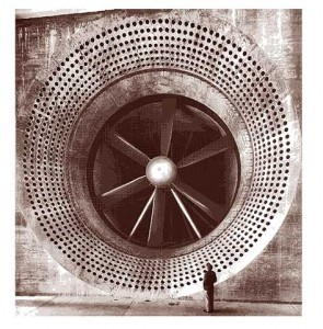 A 24-foot wind tunnel, part of RAE's wind tunnel complex