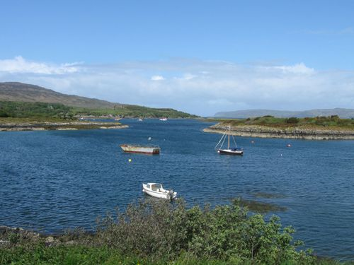 The launching point on Mull to Staffa