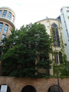 Chapel of Our Lady of Lebanon with Institut Curie on the left