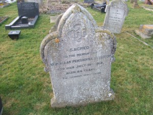 Ely City Cemetery: John Titterton headstone