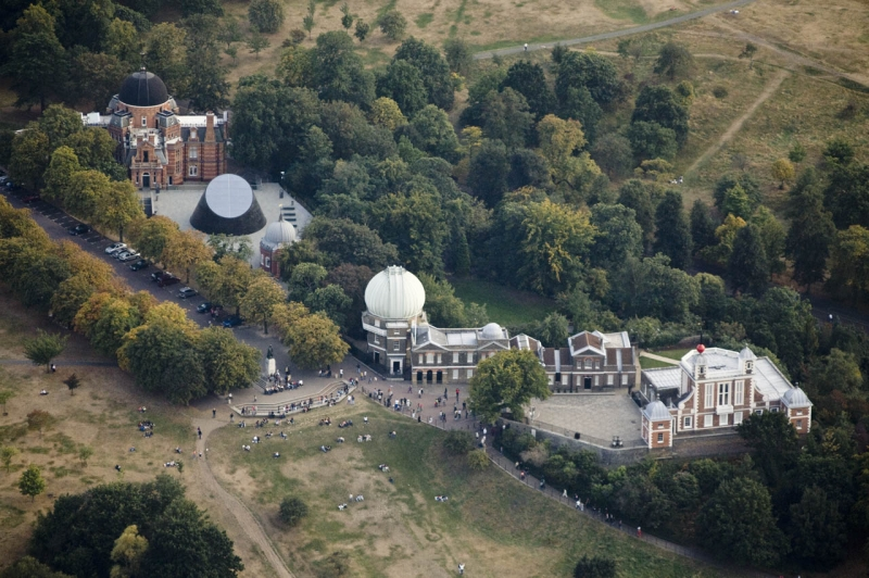 Aerial photography of the Royal Observatory, Greenwich