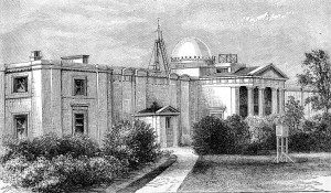 A 19th century view of the Cambridge Observatory
