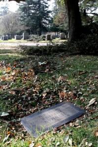 Richard Feynman's grave at Mountain View Cemetery, California, by Tim Jones