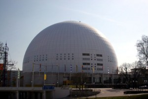 Stockholm Globe Arena from northeast