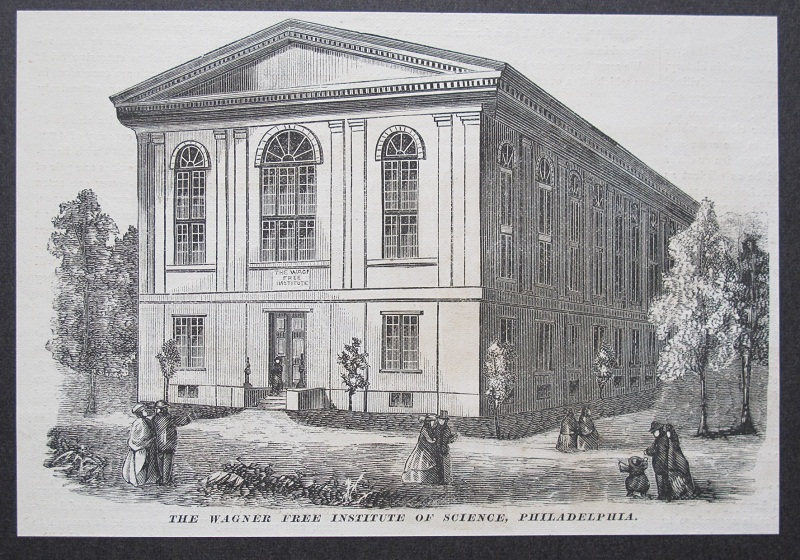 Wagner Free Institute of Science, from 'Manufacturer and Builder' (1874)