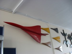 Wind Tunnel Models at Farnborough Air Sciences Trust (FAST) museum