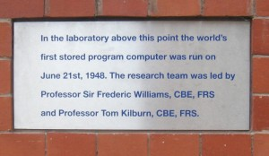 Plaque in the wall on the Bridgeford Street side.