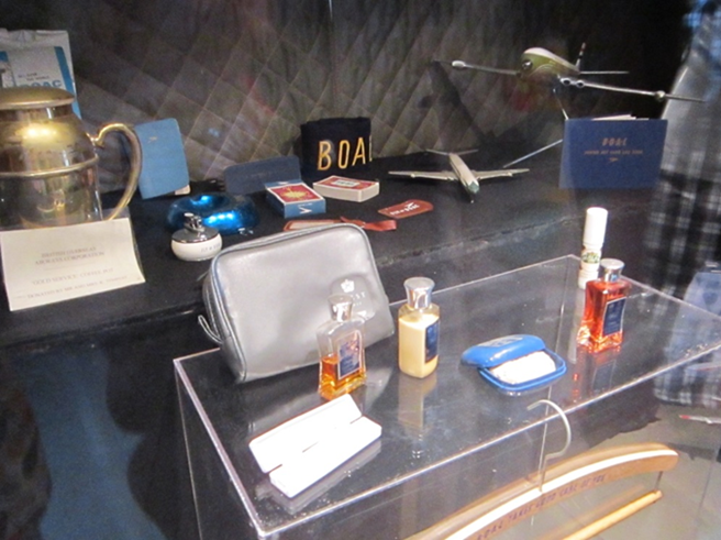 B.O.A.C. memorabilia inside the Comet simulator (Author's picture)