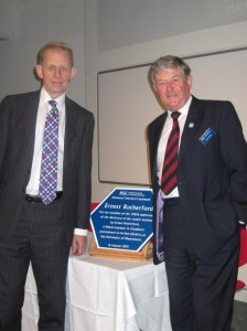Landmark Plaque being presented