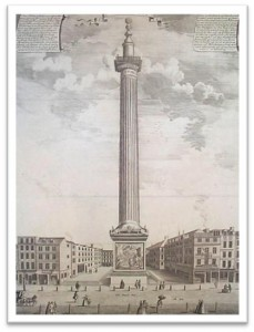 Illustrated drawing of the Monument