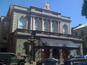 View of the Ulster Hall from Bedford Street, after refurbishment in 2009.