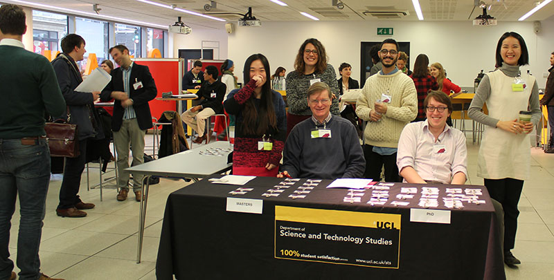 STSUCL PhD students at the registration table for BSHSPG15