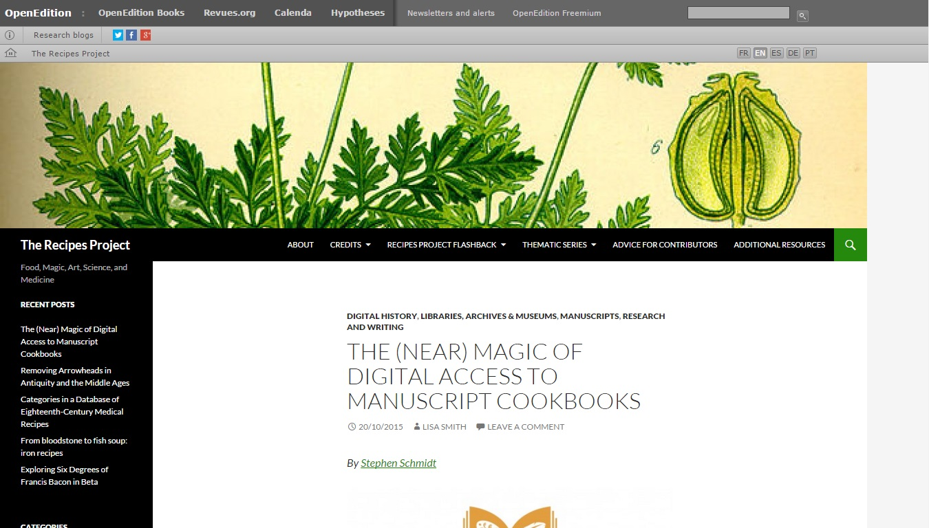 The Recipes Project (The Recipes Project Group)