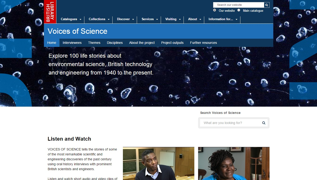 Voices of Science (British Library/National Life Stories)
