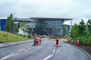 The main entrance to the Exeter Met Office