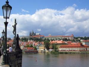 Prague Castle From The Charles Bridge.