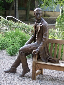 Young Darwin Statue by Anthony Smith, Christ's College, University of Cambridge