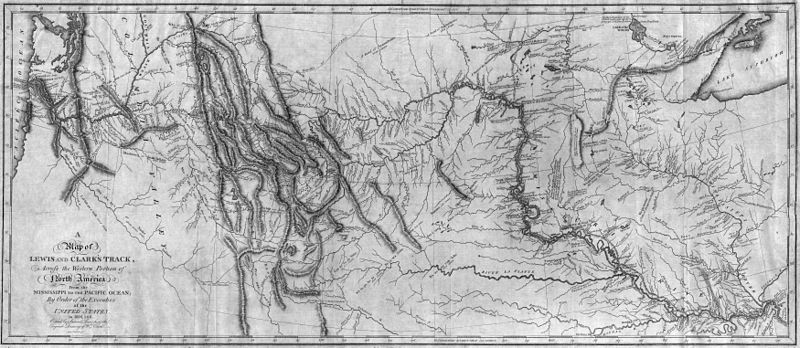 A Map of Lewis and Clark's Track, Across the Western Portion of North America From the Mississippi to the Pacific Ocean; By Order of the Executive of the United States, in 1804, 5 & 6. Copied by Samuel Lewis from the Original Drawing of Wm. Clark.