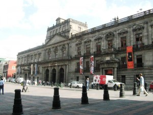 Colegio de Minería (College of Mining) building on Tacuba street in the Centro of Mexico City