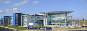 Panorama of the new UKMO building in Exeter, taken 8 February 2005