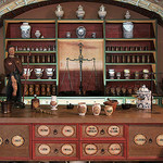 An 18th-century pharmacy counter. Creative Commons. Attribution-NonCommercial 2.0 Generic. By Kotomi.