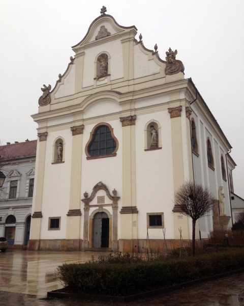 The Dominican church of Vác where the mummies were found. By Carole Reeves.