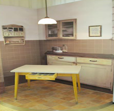 Figure 2: A domestic scene from the museum with tell-tale kitchen table.