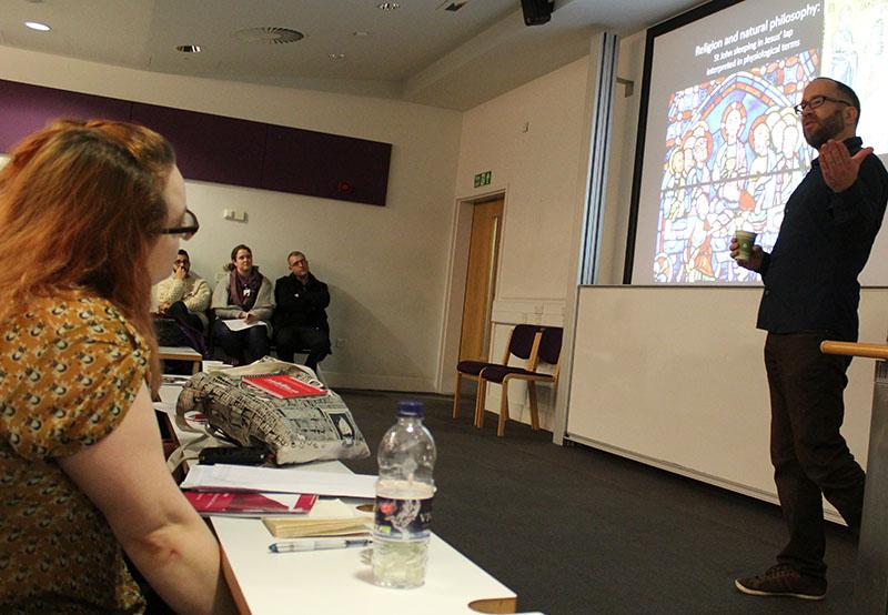 Dr Bill MacLehose (STSUCL) delivers the keynote address at BSHSPG15