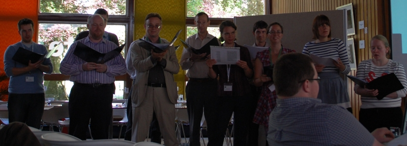 History of Science songs at the BSHS Aberdeen conference, 2010