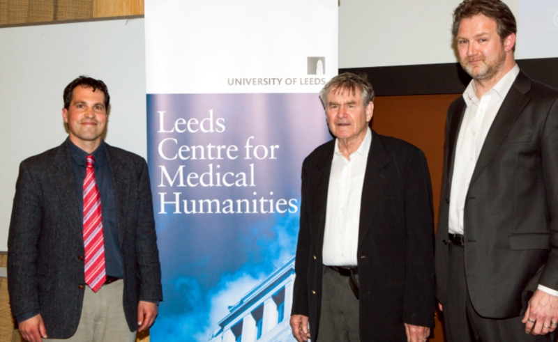 Greg Raddick, Ian Hacking, and Stuart Murray after the 'Making Up Autism' lecture