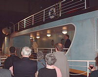 BSHS President Peter Bowler addressing attendees at the 2004 meeting. Pier 21, Halifax, Nova Scotia.